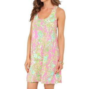 Lilly Pulitzer Melle Dress Southern Charm Flamingo